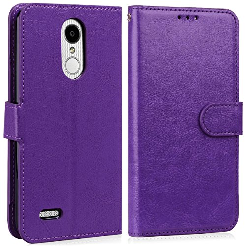 LG Stylus 4 Case, LG Q Stylus Case, LG Stylo 4 Case With Screen Protector, I VIKKLY [Kickstand] Magnetic Snap Premium PU Leather Wallet with Card Slot Folio Flip Case for Stylo 4 (2018) (Purple) by I VIKKLY (Image #5)