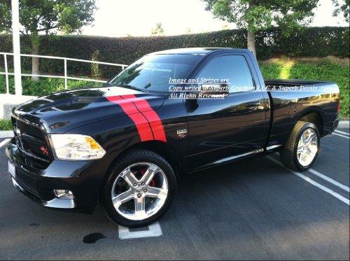2009 2010 2011 2012 2013 Dodge Ram R/T LONG Hash Mark Fender & hood stripes Stripe Decal -