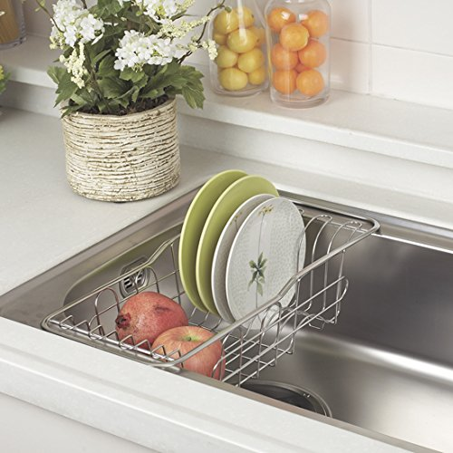 Over The Sink Drainer, Silver (Double Sink Inset)