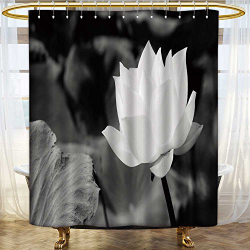 AmaPark NYL1on Shower Curtain Liner depositphotos stockwhite lotus in basin Mildew Resistant Waterproof - Ring Basin Liner