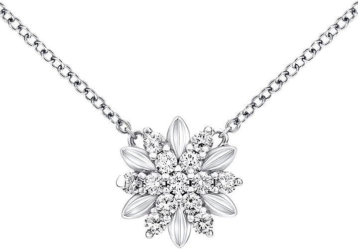 SILVEGO - MWN10855A - Collier Femme - Argent 925/1000 - Fleur avec ...
