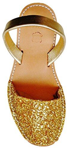 Oro Piattaforma 2 Colori Cm Menorquínas Autentici Sandali Vari cuneo Di Avarcas 5 Glitter Minorca gtxOtfTwq