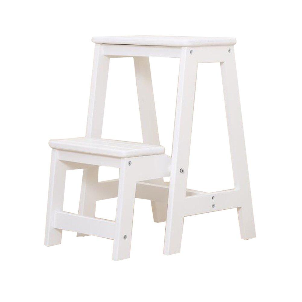 Super Kh® 折り畳みステップスツール階段無垢材多機能家庭昇降ペダル、2つのステップ (色 : 1#) B07KJHNL1D 1#