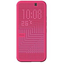 HTC Dot View Ice Premium Case for HTC One (M9)-Retail Packaging, Candy Floss