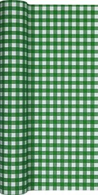 Camino de mesa papel cuadriculado en Verde oscuro - blanco/camino ...