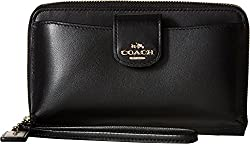 COACH Women's Box Program Universal Phone Wallet LI/Black Clutch