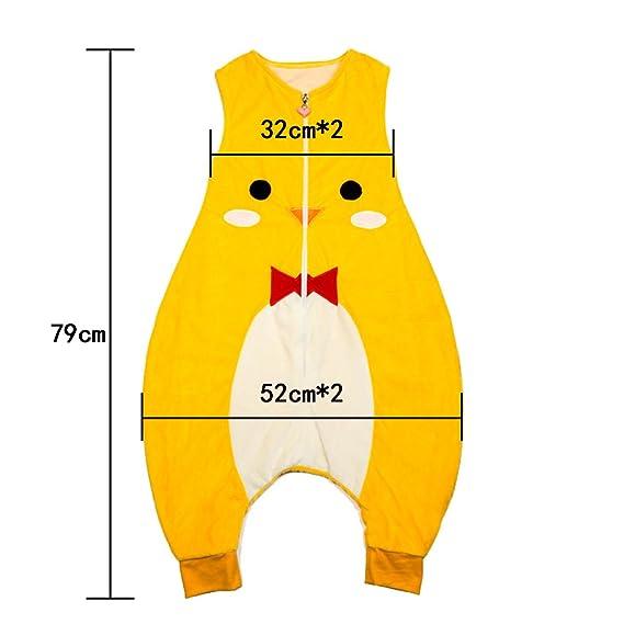 e599fdf28 ZEEUAPI - Saco de dormir con piernas de franela para bebés niños infantíl  Ropa para dormir (M (3-5 años), Amarillo-gato): Amazon.es: Hogar