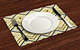 Ambesonne Ethnic Place Mats Set of 4, Native