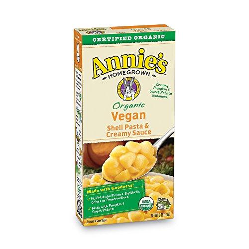 Cheese Potato (Annie's Organic Vegan Shells & Creamy Sauce Macaroni & Cheese, Non- Dairy, 12 Boxes, 6oz (Pack of 12))