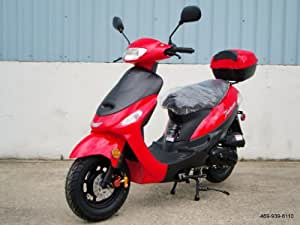 Tao Tao Brand Street Legal Gas Powered Scooter Model # ATM-50 Red Color