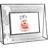 J Devlin Pic 319-46H EP556 Personalized Baby Keepsake Frame 4 x 6 Horizontal Engraved Glass Picture Frame Nursery Decor Photo