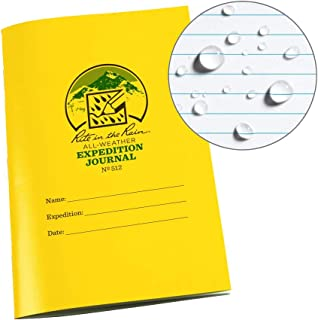 """product image for Rite in the Rain All Weather Stapled Notebook, 4 5/8"""" x 7"""", Yellow Cover, Expedition Journal (No. 512)"""