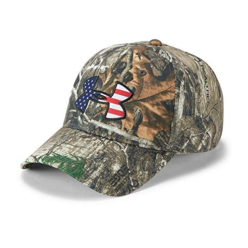 (Under Armour Men's Camo Big Flag Logo Cap, Realtree Edge (991)/Scribe Blue, One Size)