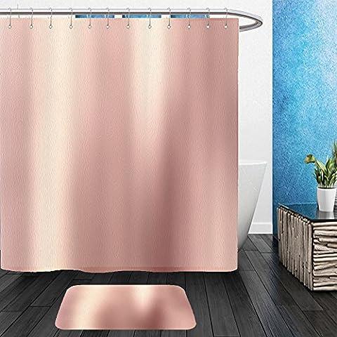 Vanfan Bathroom 2Suits 1 Shower Curtains & 1 Floor Mats rose gold background gold polished metal steel texture 581299399 From Bath - Echelon Echelon Shower Locker