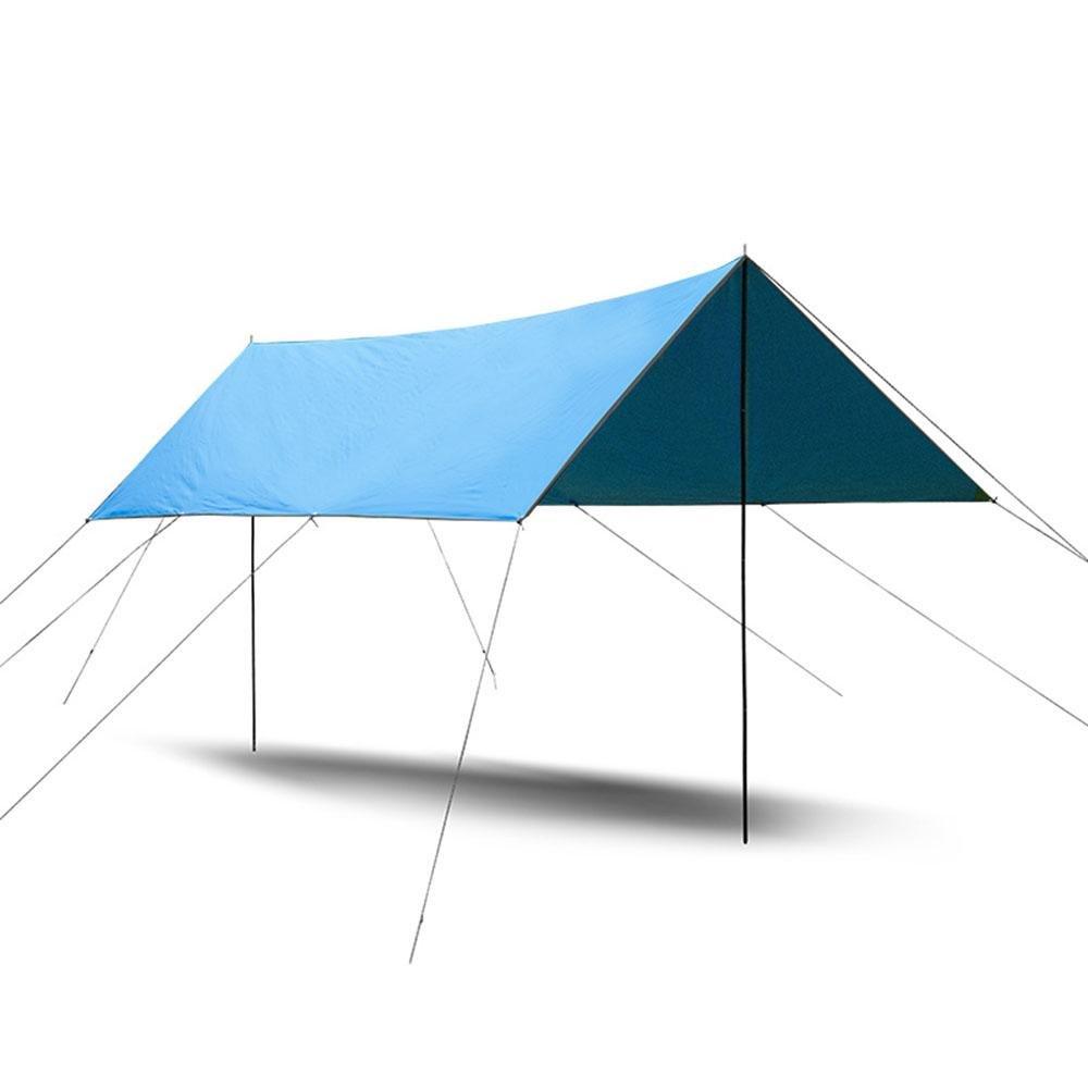 Camping Campingplatz Ultraleichte Aluminiumruten Anti-Regenwasser Überdachung Kulisse