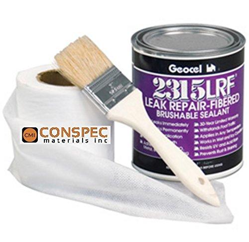 Geocel Instant Home Roof Leak 32-oz Repair Kit 2315-LRF (CLEAR) Sealant QUART (Fiberglass Shingle Roof)