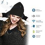 TAGVO Gorro Bluetooth V5.0 con Conjunto de Guantes con Pantalla táctil, Gorro de música inalámbrico de Punto cálido de…