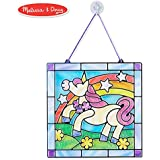 Melissa & Doug Stained Glass Made Easy Activity Kit, Arts and Crafts, Develops Problem Solving Skills, Unicorn, 70+ Stickers