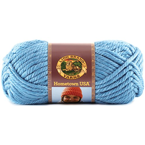 (Lion Brand Yarn Lion Brand Hometown USA Yarn (107) Charlotte Blue,)
