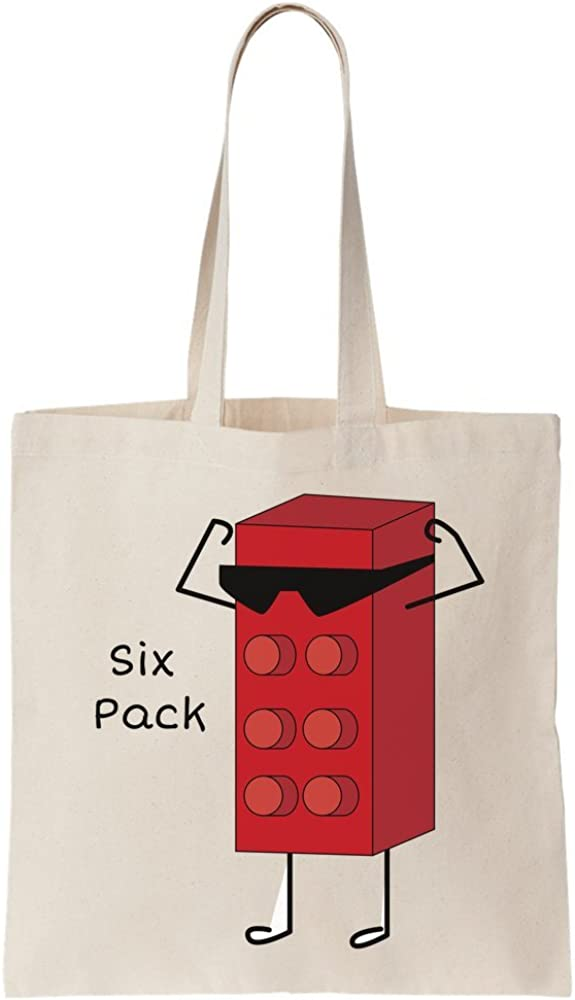 graphke Six Pack Plastic Piece Sunglasses Canvas Tote Bag: Amazon ...