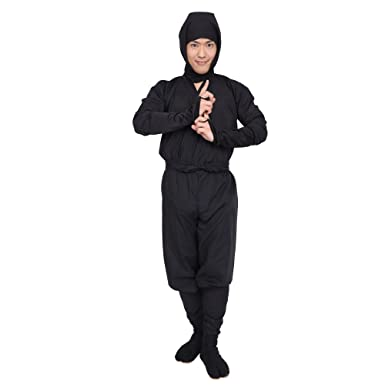 Amazon.com: PATYMO Japanese Ninja Costume, Black, Mens ...