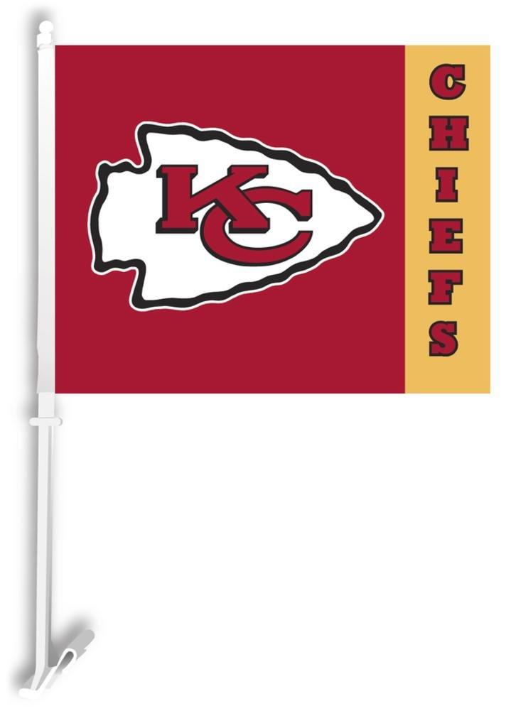 NFL Kansas City Chiefs Car Flag 20 x 14in BSI