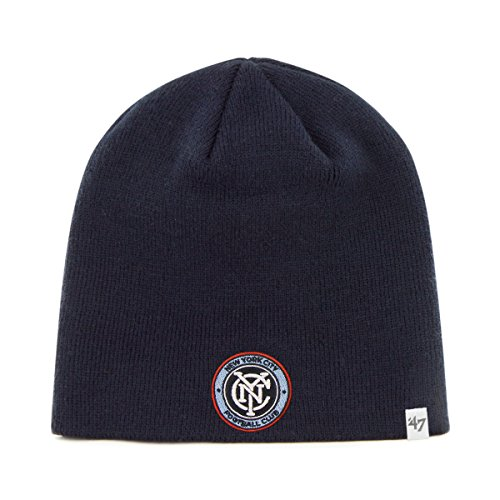 MLS New York City FC Beanie Knit, One Size, Navy