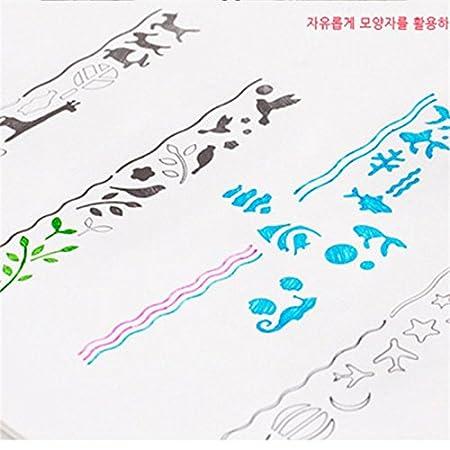 HYZ - Marcapáginas de metal hueco con básculas creativas multifunción para pintar el icono, Fish tank, 15 * 2.3cm: Amazon.es: Hogar
