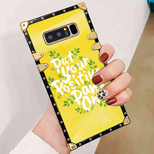 BesteeCase Square Corner Case Compatible with Galaxy Note 8 (2017) [6.3inch] Put Your Positive Pants on]()