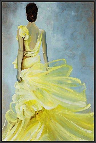 Amazon.com: PTM Images 9-15174 Yellow Dress, Canvas Wall Art, Black ...