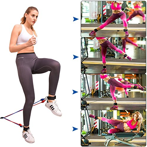 Resistance Band Set, Home Workout Bands with Handles, Heavy Duty Anti-Snap Technology Exercise Bands, Door Anchor, Leg Straps, Carrying Bag for Resistance Training and Physical Therapy. by Doraimy (Image #3)