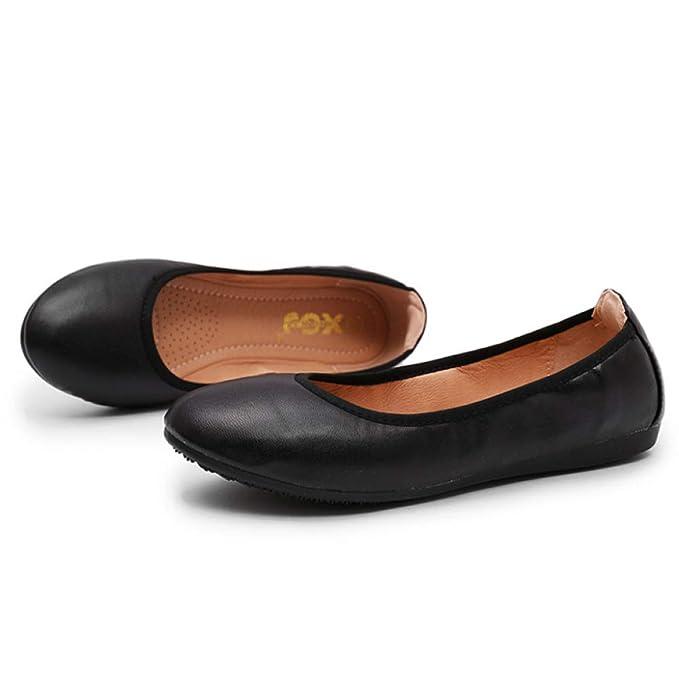 LITHAPP Zapatos De Trabajo Bombas Para Mujer Zapatillas De Barco Plegables Zapatillas De Ballet Mocasines Portátiles Para Mujer: Amazon.es: Ropa y ...