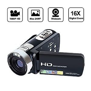 SEREE HD Digital Camera Camcorder Full HD 1080p 24.0 Megapixels 4x Digital Zoom 3 Inch LCD Screen Flashlight …