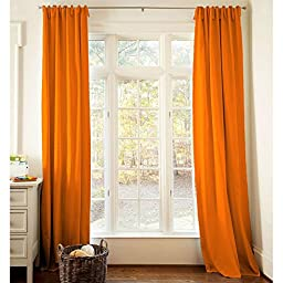 Carousel Designs Solid Orange Drape Panel 64-Inch Length Standard Lining 42-Inch Width