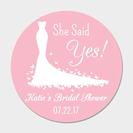40 totally customizable wedding gown bridal shower favor stickers personalized bridal shower favor labels