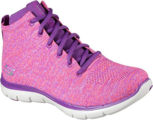 Skechers Womens Flex Appeal 2.0 - In Code Casual Schoen Roze / Paars