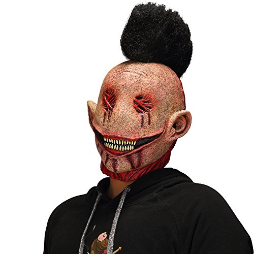 Mo Fang Gong She Halloween Horror Cosplay The Evil Bloody Big Slit Mouth Dead Punk Clown Mask -