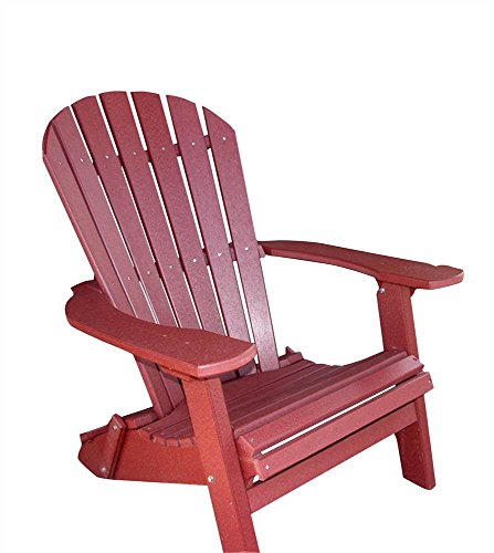 PHAT TOMMY Recycled Poly Deluxe Folding Adirondack Chair Eco Friendly Merlot For Sale