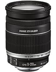 Canon EF-S 18-200mm F3.5-5.6 IS voor EOS (72 mm filterschroefdraad, beeldstabilisator, autofocus) zwart