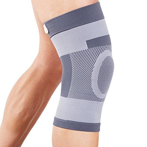 Actesso Kompression Kniebandage - Kann bei Verletzungen des Knies, wie Bänderverletzungen oder Zerrungen und Verstauchungen eingesetzt werden (Klein (33-36 cm))