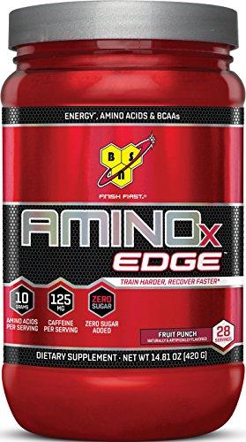 BSN Amino X Edge Amino Acid Powder, Fruit Punch, 28 Servings - Edge Powder