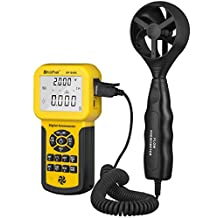 HOLDPEAK 846A Digital Anemometer – Wind Speed Meter For Windsurfing Kite Flying Sailing Surfing Fishing – This Wind Speed Tester Measures Wind Speed + Temperature + Wind flow with Backlight & Data Hold