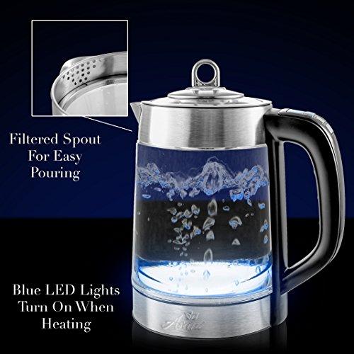 Double Wall Safe Electric Digital Temperature Control Spout Filter | BONUS Boiler | | Electric for Tea &