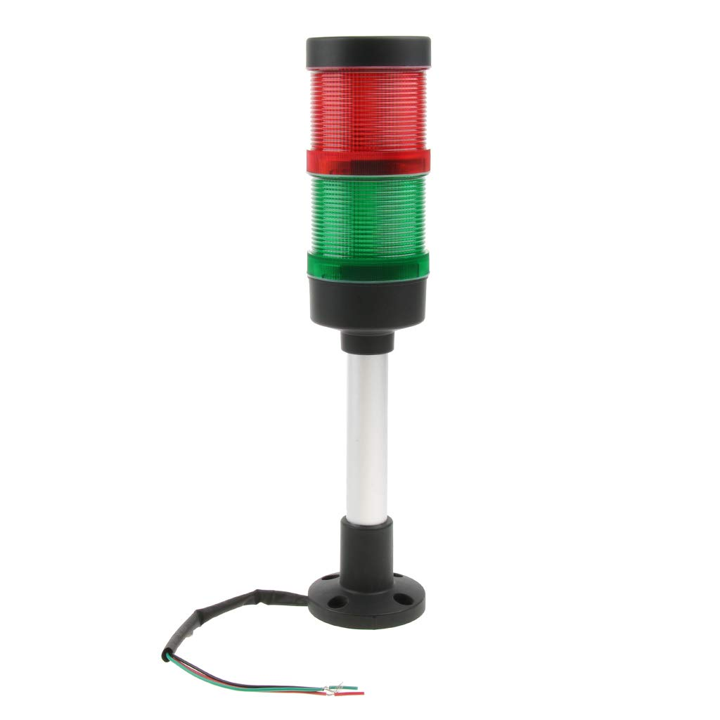Baosity Signal Industrial Tower Warning Lamp Stack Light Alarm Apparatu Green Red