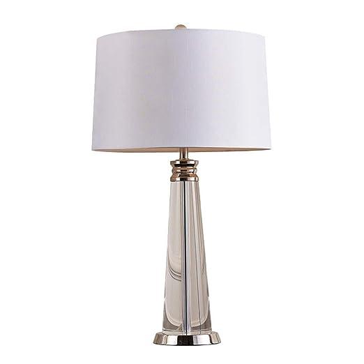 Mesita de noche lámpara de escritorio Lámpara de mesa de cristal ...