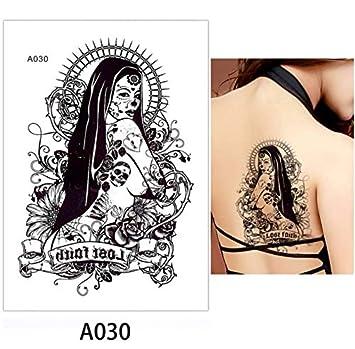 yyyDL Acuarela belleza mujeres maquillaje corporal tatuaje espalda ...