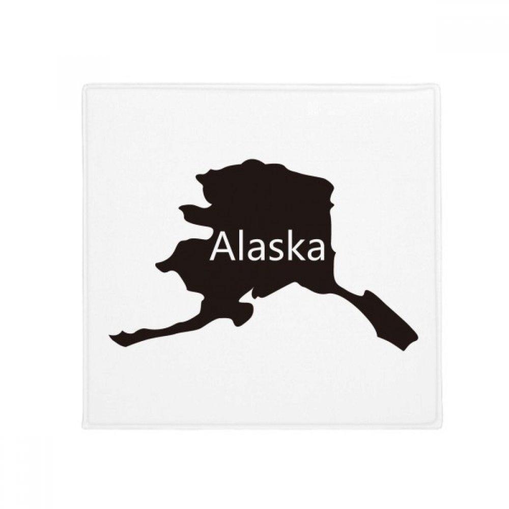 DIYthinker Alaska USA Map Stars Stripes Flag Anti-Slip Floor Pet Mat Square Home Kitchen Door 80Cm Gift