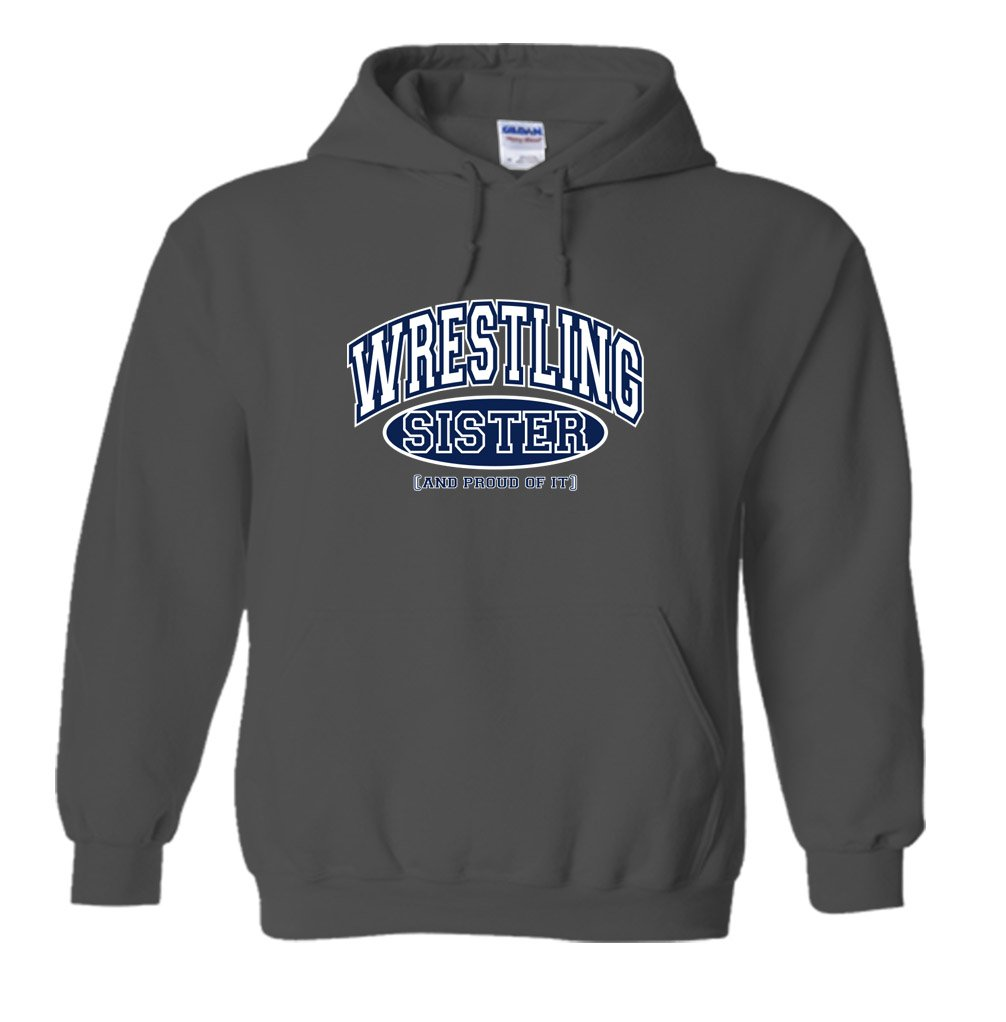 Fair Game Wrestling Sister and Proud of It Hoodie-Charcoal-2X