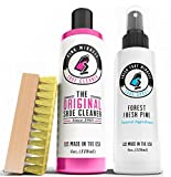 Shoe Deodorizer Spray with Shoe Cleaner Set - Fresh Foot Miracle - Forest Pine Scent - And - Pink Miracle (4 Oz., Pink Miracle / Fresh Foot Miracle Combo Pack)