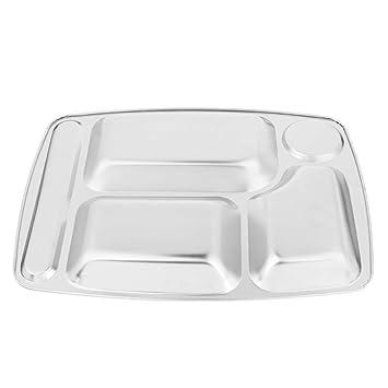 Amazon.com: Baosity - Bandeja para servir alimentos (acero ...